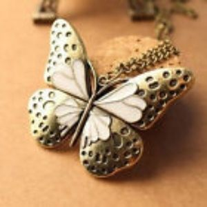 Jewelry - Butterfly Long Sweater Chain Necklace